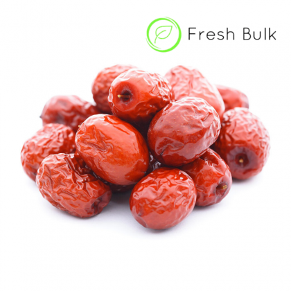 Fresh Bulk Xin Jiang Red Dates (2 x 500g)  新疆无硫红枣