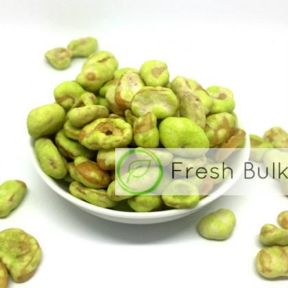 Fresh Bulk Wasabi Coated Broad Bean (500g)