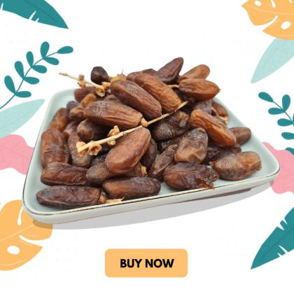 Fresh Bulk Deglet Nour Dates with branch / Kurma Bertangkai 380 gm