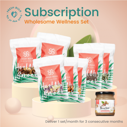 Fresh Bulk Wholesome Wellness Subscription - RM100 per month for 3 months / free shipping for 3 months