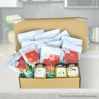 Fresh Bulk Healthy Nuts & Granola subscription - 3 months subscription / 24 snacks / RM100 per set / FREE SHIPPING